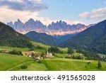 santa maddalena village in... | Shutterstock . vector #491565028