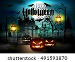 halloween. | Shutterstock .eps vector #491593870