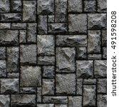 seamless stone pattern. | Shutterstock . vector #491598208