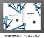 molecule annual report. vector...   Shutterstock .eps vector #491612560