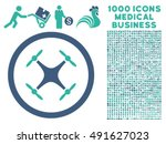 quadcopter icon with 1000... | Shutterstock .eps vector #491627023