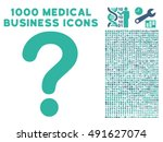 question icon with 1000 medical ... | Shutterstock .eps vector #491627074