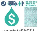 money drop icon with 1000... | Shutterstock .eps vector #491629114