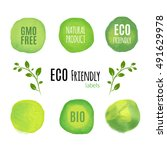 eco friendly natural product... | Shutterstock . vector #491629978