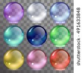 vector set of glass balls