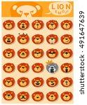 Lion Emoji Icons   Vector  ...