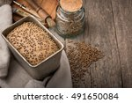 rye bread  cooking process. the ... | Shutterstock . vector #491650084