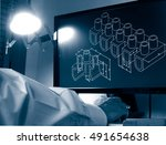 designer working on a cad... | Shutterstock . vector #491654638