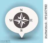 pictograph of compass | Shutterstock .eps vector #491657980