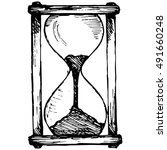 hourglass sketch. illustration  ... | Shutterstock . vector #491660248