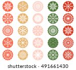 white snowflake ornaments in... | Shutterstock .eps vector #491661430