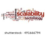 scalability word cloud concept | Shutterstock . vector #491666794