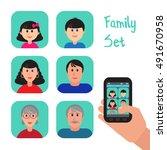 Brunette Family Set