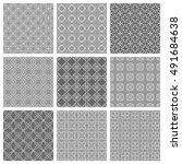 seamless geometric line... | Shutterstock .eps vector #491684638