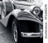 stunning retro car. stylish... | Shutterstock . vector #491688298