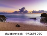 sunset  sea  landscape. okinawa ... | Shutterstock . vector #491695030