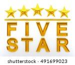 Five Stars   3d Rendering