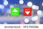 binary option background with...   Shutterstock . vector #491700286
