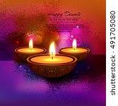 abstarct happy diwali background | Shutterstock .eps vector #491705080