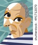 cubist famous painter   Shutterstock .eps vector #491712070