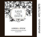 vintage delicate invitation... | Shutterstock . vector #491713870