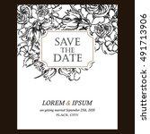vintage delicate invitation... | Shutterstock . vector #491713906