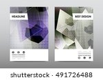 brochure layout template flyer... | Shutterstock .eps vector #491726488