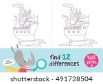 find the differences. kids... | Shutterstock .eps vector #491728504