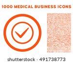 orange ok vector rounded icon....
