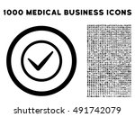 black ok vector rounded icon....