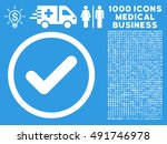white yes vector rounded icon....
