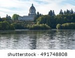 capitol lake view of state... | Shutterstock . vector #491748808