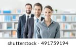 business people team in the... | Shutterstock . vector #491759194