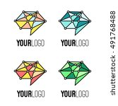 set of different colours brain... | Shutterstock .eps vector #491768488
