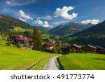 the alpine village of alpbach...   Shutterstock . vector #491773774