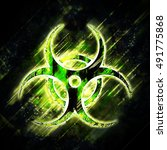abstract  biohazard sign | Shutterstock . vector #491775868