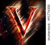 red light letter v | Shutterstock . vector #491776300