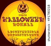 font halloween normal | Shutterstock .eps vector #491780218