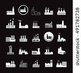 factory icons set   isolated on ... | Shutterstock .eps vector #491782738