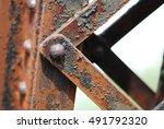 old rusted steel   rusty metal... | Shutterstock . vector #491792320