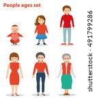 european female in different... | Shutterstock .eps vector #491799286