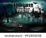 halloween. | Shutterstock .eps vector #491804038