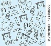 sex shop pattern | Shutterstock .eps vector #491808070