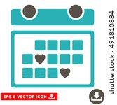 grey and cyan favourite days... | Shutterstock .eps vector #491810884