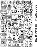 web doodles set | Shutterstock .eps vector #491813908
