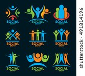 people logos   Shutterstock .eps vector #491814196