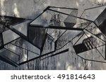 beautiful street art graffiti....   Shutterstock . vector #491814643