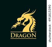 dragon logo | Shutterstock .eps vector #491815390