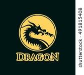 dragon logo | Shutterstock .eps vector #491815408