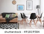 interior of beautiful modern... | Shutterstock . vector #491819584